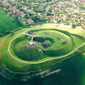 Sandal Castle Ariel view